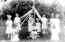 Historic Maypole Dancing