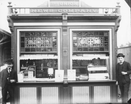 Newsstand at Princeton Station, 1888