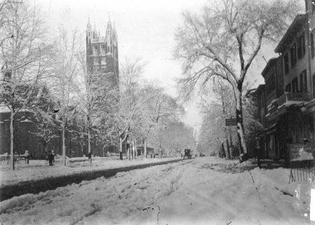 Nassau Street after a snowstorm, ca. 1910